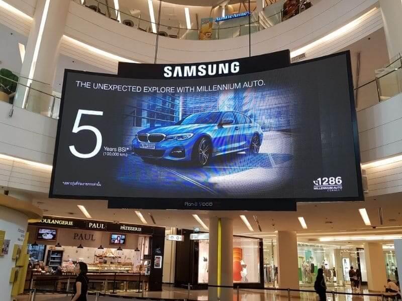 Cho thuê màn hình led trung tâm thương mại